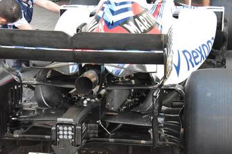 Williams FW41 detalle trasero