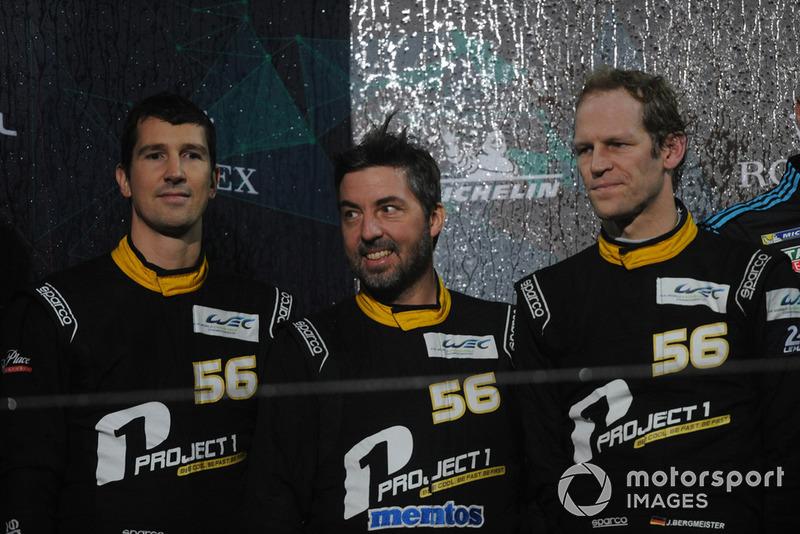 Campeonato del Mundo de Resistencia WEC, pilotos (categoría GTE Am): Jorg Bergmeister, Patrick Lindsey, Egidio Perfetti