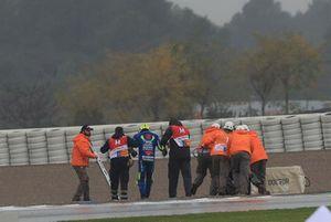 Andrea Iannone, Team Suzuki MotoGP après sa chute