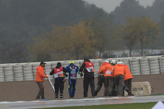Andrea Iannone, Team Suzuki MotoGP, dopo la caduta