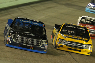 Brett Moffitt, Hattori Racing Enterprises, Toyota Tundra AISIN Group and Grant Enfinger, ThorSport Racing, Ford F-150 Champion Power Equipment/Curb Records