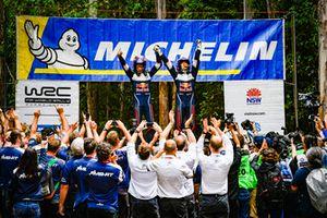 Lo campeones del mundo 2018: Sébastien Ogier, Julien Ingrassia, Ford Fiesta WRC, M-Sport Ford