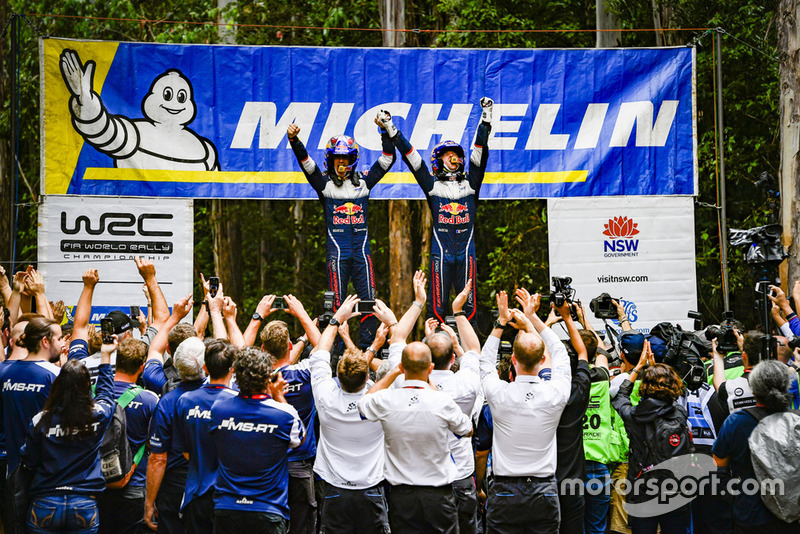 Чемпионы мира по ралли 2018 года Себастьен Ожье и Жюльен Инграссиа, M-Sport Ford