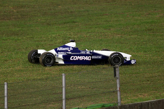 Unfallauto von Juan Pablo Montoya, BMW Williams FW23