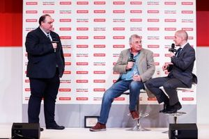 Edd Straw, Gary Anderson and Stuart Codling on the stage