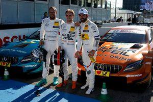 Top 3: Polesitter Lucas Auer, Mercedes-AMG Team HWA, Gary Paffett, Mercedes-AMG Team HWA, Timo Glock, BMW Team RMG