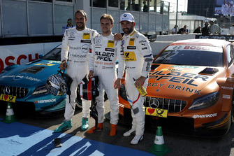 Top 3: Pole sitter Lucas Auer, Mercedes-AMG Team HWA, Gary Paffett, Mercedes-AMG Team HWA, Timo Glock, BMW Team RMG