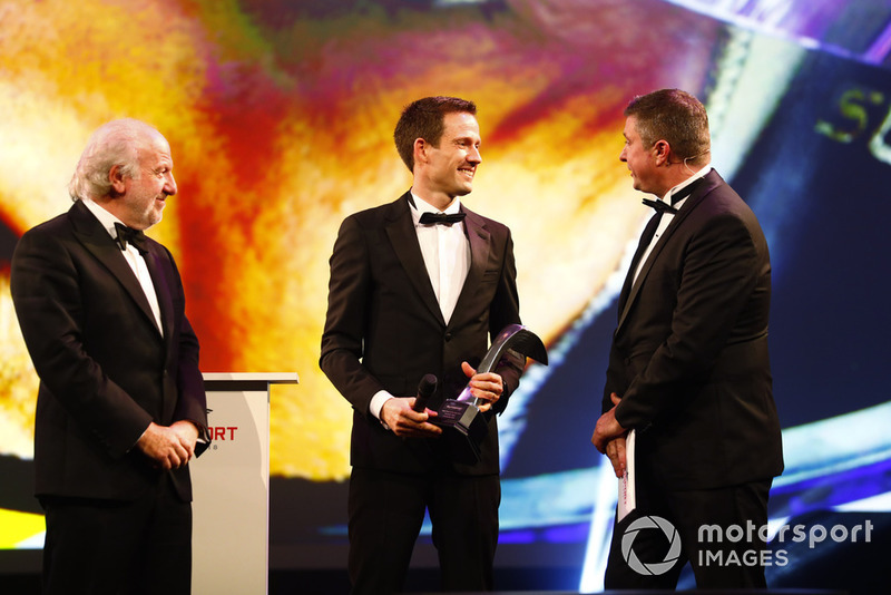 Sebastien Ogier receives the Rally Driver of the Year award
