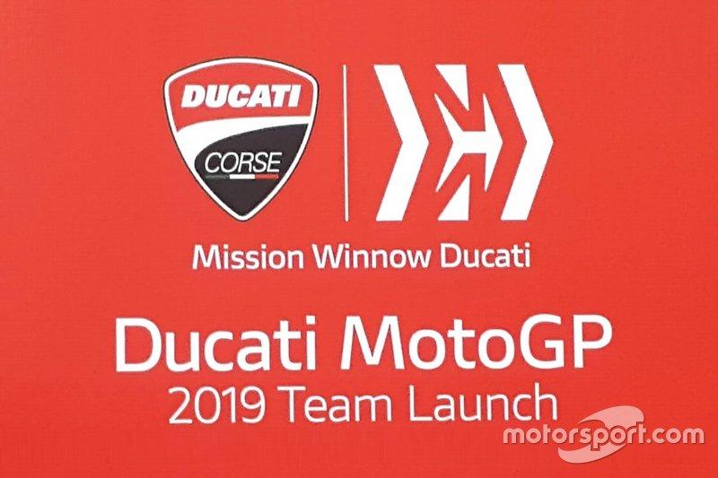 Locandina presentazione Ducati MotoGP 2019