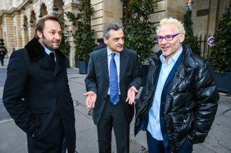 Patrick Lemarié, cofondateur de Feed Racing, Serge Saulnier, directeur du Circuit Magny-Cours, Jacques Villeneuve, cofondateur de Feed Racing