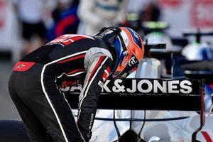Romain Grosjean, Haas F1 Team, nel parco chiuso