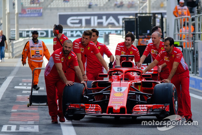 Sebastian Vettel, Ferrari SF71H car and team