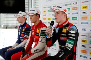 Press Conference, Robert Shwartzman, PREMA Theodore Racing Dallara F317 - Mercedes-Benz, Guanyu Zhou, PREMA Theodore Racing Dallara F317 - Mercedes-Benz, Jüri Vips, Motopark Dallara F317 - Volkswagen