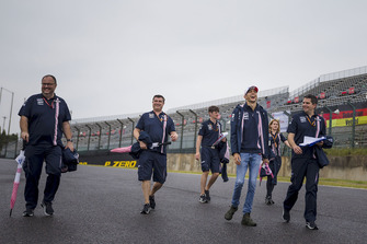 Esteban Ocon, Racing Point Force India F1 Team walks the track