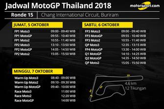 Jadwal MotoGP Thailand 2018