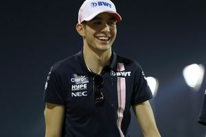 Esteban Ocon, Racing Point Force India walks the track