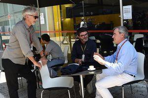 Damon Hill, Sky TV, Luis Garcia Abad, manager de Fernando Alonso et Carlos Sainz