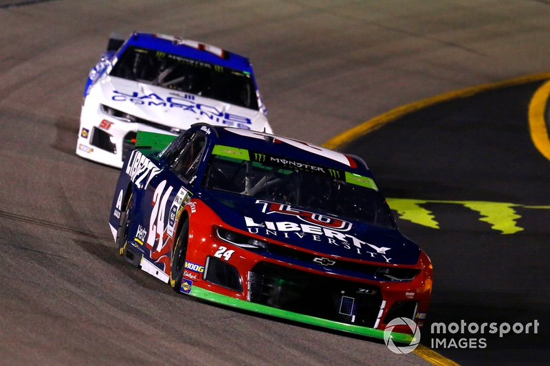 William Byron, Hendrick Motorsports, Chevrolet Camaro Liberty University and Austin Theriault, Petty Ware Racing, Ford Mustang JACOB COMPANIES