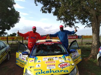 Chetan Shivram and Dilip Sharan, Team Akshara Volkswagen Polo