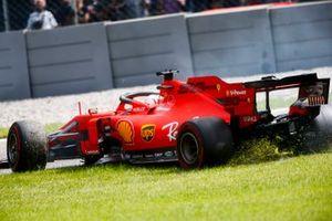 Sebastian Vettel, Ferrari SF90 spins