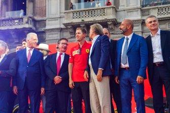 Piero Lardie Ferrari, Sebastian Vettel, Ferrari, Luca di Montezemolo, e Ivan Capelli