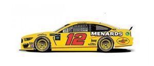 Throwback-Design: Ryan Blaney, Team Penske, Ford Mustang