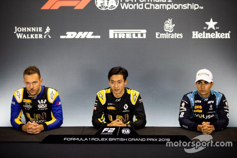Luca Ghiotto, UNI Virtuosi Racing Guanyu Zhou, UNI Virtuosi Racing and Sergio Sette Camara, Dams