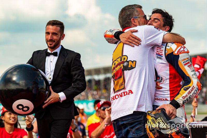 World Champion Marc Marquez, Repsol Honda Team and his uncle Ramon Marquez