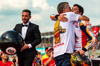 World Champion Marc Marquez, Repsol Honda Team and his uncle Ramon Marquez