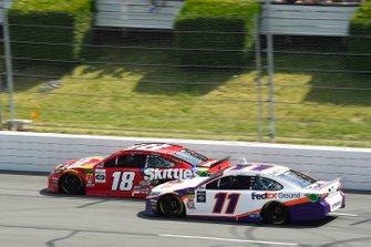 Kyle Busch, Joe Gibbs Racing, Toyota Camry M&M's Skittles, Denny Hamlin, Joe Gibbs Racing, Toyota Camry FedEx Ground