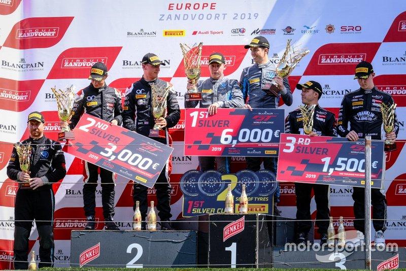 Podium Silver: Winner #62 R-Motorsport Aston Martin Vantage AMR GT3: Aaro Vainio, Hugo de Sadeleer, #56 Attempto Racing Audi R8 LMS GT3: Milan Dontje, Mattia Drudi, third place #17 Belgian Audi Club Team WRT Audi R8 LMS GT3: Shae Davies, Tom Gamble