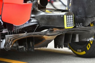 Diffuser details van de Red Bull Racing RB15