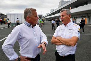Johnny Herbert, Sky TV and Martyn Pass, McLaren