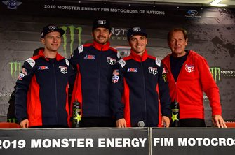 Justin Cooper, Jason Anderson en Zach Osborne, Team USA na de persconferentie