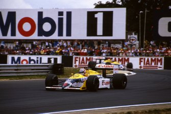 Nigel Mansell, Williams y Nelson Piquet, Williams