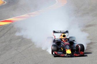 Max Verstappen, Red Bull Racing RB15, crash