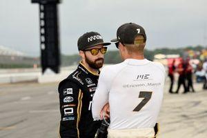 James Hinchcliffe, Arrow Schmidt Peterson Motorsports Honda and Marcus Ericsson, Arrow Schmidt Peterson Motorsports Honda
