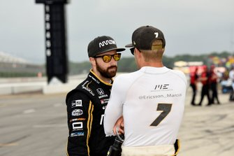 James Hinchcliffe, Arrow Schmidt Peterson Motorsports Honda and Marcus Ericsson, Arrow Schmidt Peterson Motorsports Honda