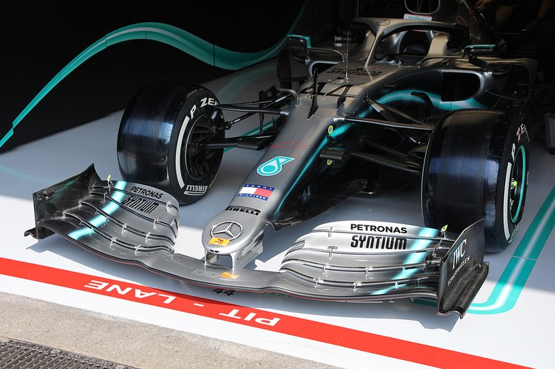 Mercedes AMG F1 W10 of Lewis Hamilton