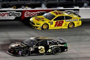 Austin Dillon, Richard Childress Racing, Chevrolet CamaroAmerican Ethanol and Ryan Blaney, Team Penske, Ford Mustang Menards/Pennzoil