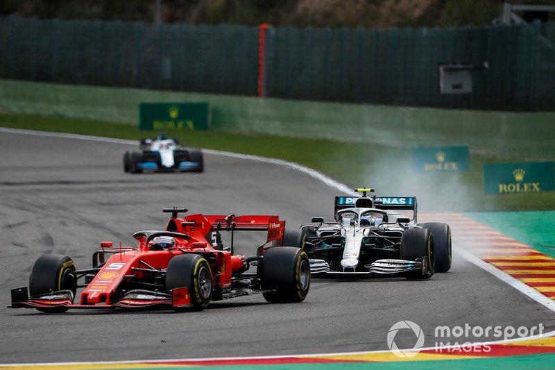 Sebastian Vettel e Valtteri Bottas na Bélgica