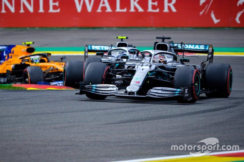 Lewis Hamilton, Mercedes AMG F1, Valtteri Bottas, Mercedes AMG F1, Lando Norris, McLaren MCL34