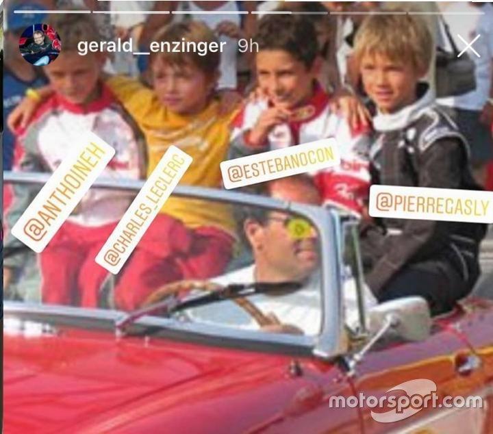 Hubert, Leclerc, Ocon e Gasly