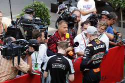 Nico Hulkenberg, Sahara Force India F1 with Kai Ebel, RTL TV Presenter