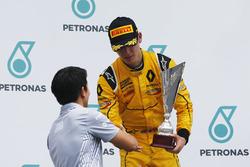 Rio Haryanto, Jack Aitken, podium GP3 Series, Sepang, Malaysia