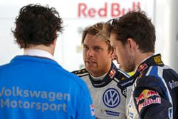 Richard Browne with Andreas Mikkelsen, Anders Jäger, Volkswagen Polo WRC, Volkswagen Motorsport