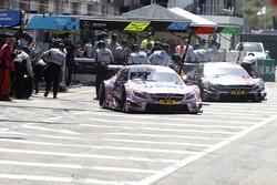 Pit stop Lucas Auer, Mercedes-AMG Team Mücke, Mercedes-AMG C63 DTM and Maximilian Götz, Mercedes-AMG