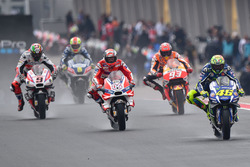Valentino Rossi, Yamaha Factory Racing et Andrea Dovizioso, Ducati Team