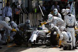 Felipe Massa, Williams FW38 hace una parada en boxes