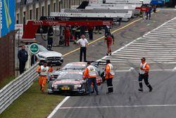 Adrien Tambay, Audi Sport Team Rosberg, Audi RS 5 DTM und Maximilian Götz, Mercedes-AMG Team HWA, Me